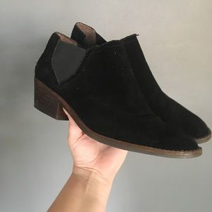 Lucky Brand Faux Suede Black Booties!